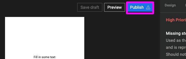WEBストーリーの公開ボタン位置