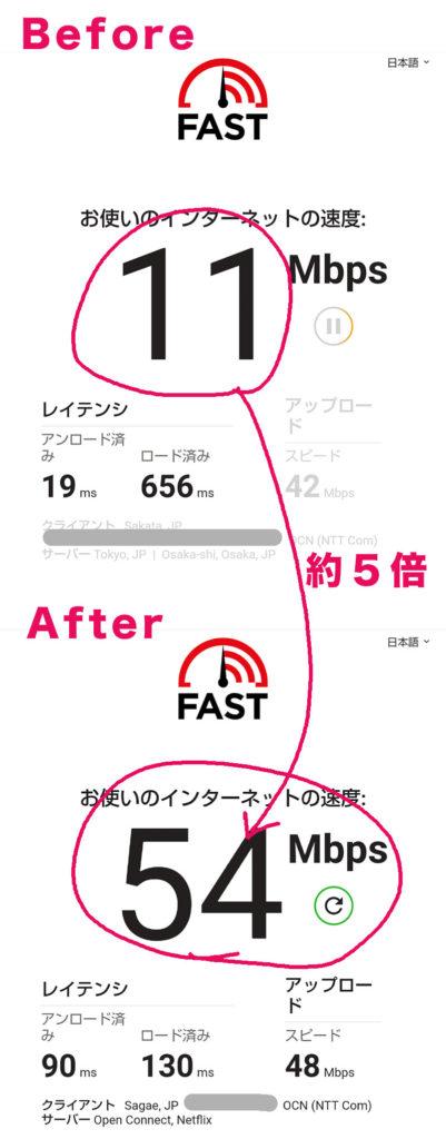 回線速度比較「TP-Linka A10 AC2600」